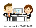 vector illustration  ... | Shutterstock .eps vector #294129497