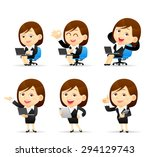 people set for business. office ... | Shutterstock .eps vector #294129743