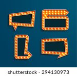 set of vintage bilboards with... | Shutterstock .eps vector #294130973