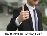 asian business man give you a... | Shutterstock . vector #294145217