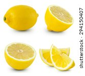 Lemon Isolated On White...
