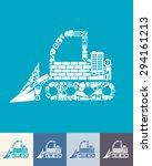 illustration of the bulldozer... | Shutterstock .eps vector #294161213
