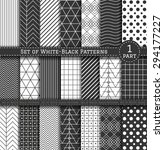 set of white and black patterns.... | Shutterstock .eps vector #294177227