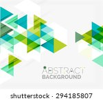 abstract geometric background.... | Shutterstock . vector #294185807