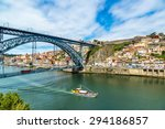 dom luis i bridge in porto in... | Shutterstock . vector #294186857