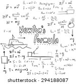 newton law theory and physics... | Shutterstock .eps vector #294188087