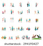 couple and family flat figures. ... | Shutterstock .eps vector #294193427