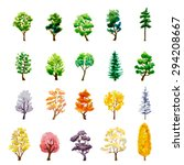 set of trees on white.... | Shutterstock .eps vector #294208667