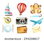 set of tourism icons.... | Shutterstock .eps vector #294208817