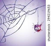 card for halloween. watercolor... | Shutterstock . vector #294219653