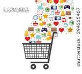 internet icon digital design ... | Shutterstock .eps vector #294225407
