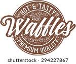 hot breakfast waffles | Shutterstock .eps vector #294227867