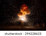 realistic fiery explosion... | Shutterstock . vector #294228623