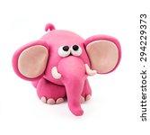 Plasticine Cartoon Pink Fun...