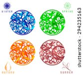 set of abstract colorful clocks ... | Shutterstock . vector #294235163