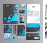 corporate identity template... | Shutterstock .eps vector #294240863