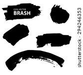 aquarell  ink splash. black and ... | Shutterstock .eps vector #294246353