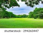Public Park Background On A...