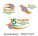 indian independence day concept ... | Shutterstock .eps vector #294277127