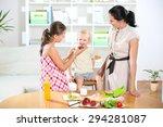 mother making breakfast for her ...   Shutterstock . vector #294281087