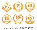 15 Years Anniversary Emblems...
