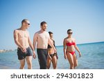 group of young multiethnic...   Shutterstock . vector #294301823