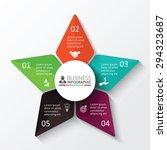 vector star for infographic.... | Shutterstock .eps vector #294323687