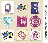 communication icons set. hand... | Shutterstock .eps vector #294324233