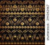 set of horizontal golden lace... | Shutterstock .eps vector #294342467