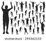 singer silhouettes on white... | Shutterstock .eps vector #294362153