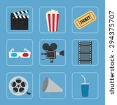 cinema icons set for use in... | Shutterstock .eps vector #294375707