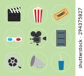 cinema icons set for use in... | Shutterstock .eps vector #294375827