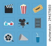 cinema icons set for use in... | Shutterstock .eps vector #294375833