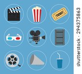 cinema icons set for use in... | Shutterstock .eps vector #294375863
