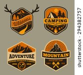 set of vintage wilderness ... | Shutterstock .eps vector #294382757