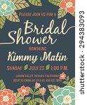 bridal shower invitation card... | Shutterstock .eps vector #294383093