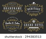 flourish frame for labels ... | Shutterstock .eps vector #294383513