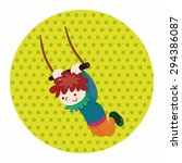circus flying trapeze theme...   Shutterstock .eps vector #294386087