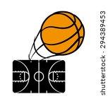 basketball digital design ... | Shutterstock .eps vector #294389453