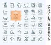 outline web icon set   hotel... | Shutterstock .eps vector #294406793