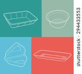 foam box. empty plastic... | Shutterstock .eps vector #294433553