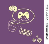 joystick icon and keyboard...