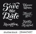 vector wedding design template...   Shutterstock .eps vector #294447497