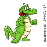 Greedy Cartoon Crocodile