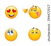 4 emoji smiley faces | Shutterstock .eps vector #294472517