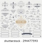 kit of vintage elements for... | Shutterstock .eps vector #294477593