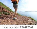 young woman backpacker walking... | Shutterstock . vector #294479567