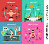 gym design concept set with...   Shutterstock .eps vector #294481127