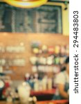blurred of cafe | Shutterstock . vector #294483803