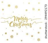 gold glitter christmas... | Shutterstock .eps vector #294492173
